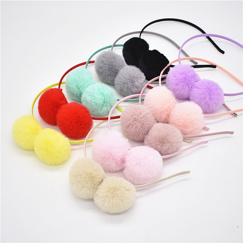 Reasonable 2pcs Cute Headband Cat Ears Pompom Ball Fluffy Ball Hair Accessories Hair Loop Headband For Performance Party Holiday Daily Styling Accessories