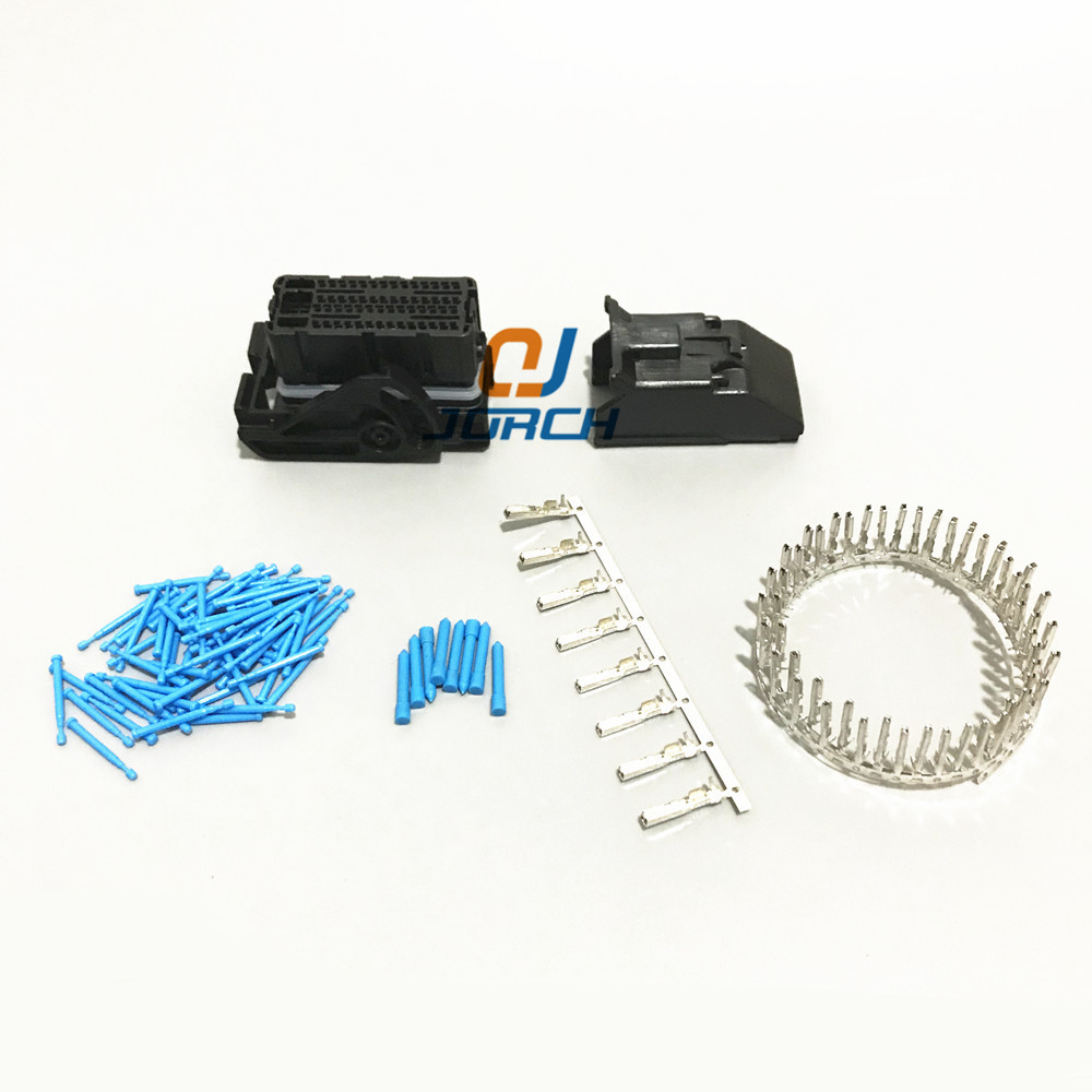 Free Shipping 5sets Fci 24pin Ecu Plastic Wire Harness Female 24 Pin 64 Way Molex Automotive Connector Central Contral System Connectors Sets Kits