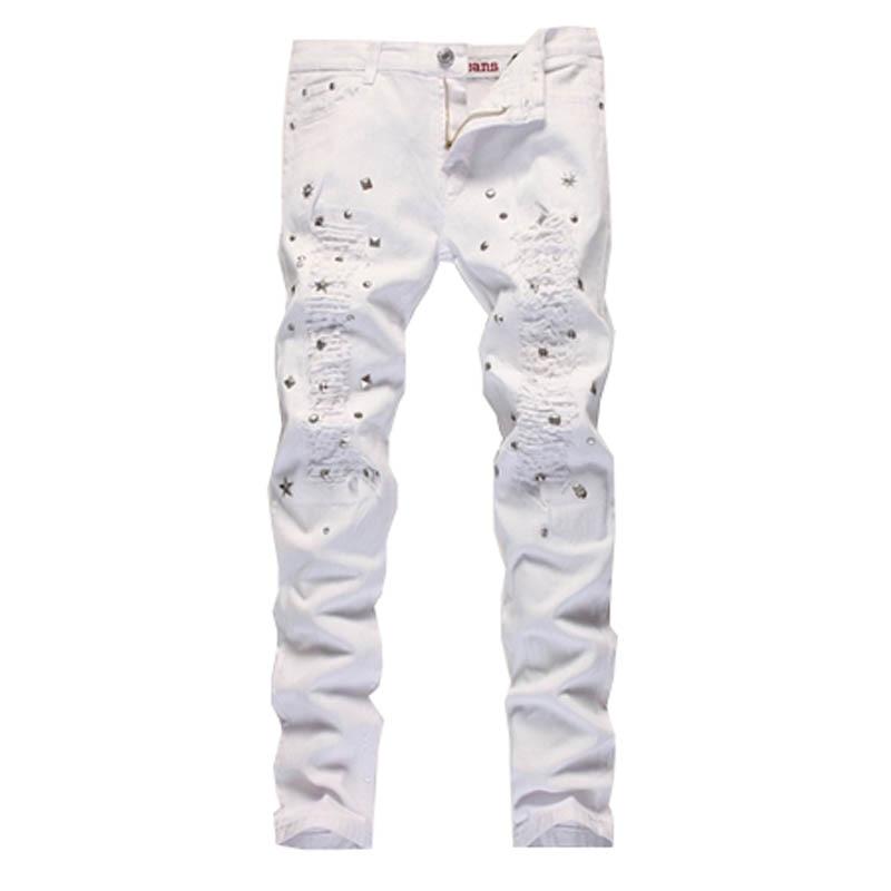 Aliexpress.com : Buy White Distressed Jeans Men Hip Hop Casual