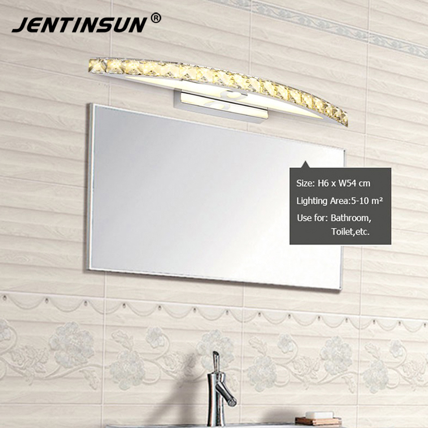 New Bathroom LED Mirror Light Mini Style Modern Wall Lamp lampada de Lighting fixtures, Warm White 10W 44cm Champagne Crystal new modern dia 12cm creative crystal wall sconces round wall lamp fixtures lighting for hallway bathroom bedside lighting wl210