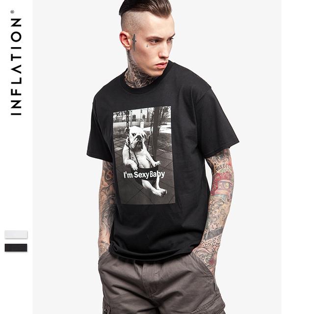 Inflation 2017 últimas camisetas hombres camisetas impresas de graffiti de impresión cuello redondo manga corta camiseta camisa de color negro para los hombres