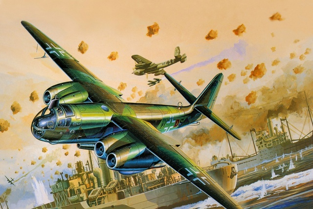 Ar234c germany aircraft airplane bomber battle retro warship QX063 ...