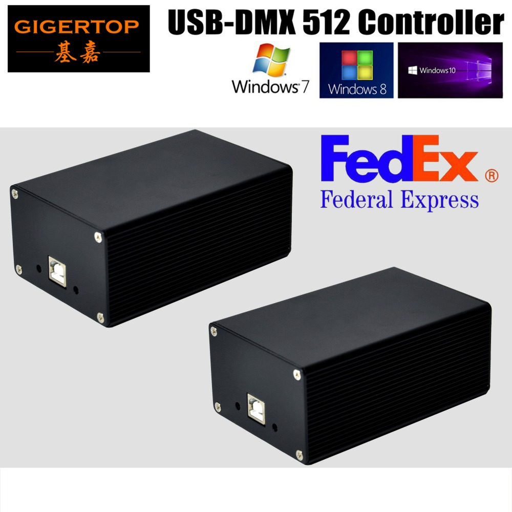 Freeshipping 2XLot USB DMX HD512 controller, Controller di 2016 PC, martin/Perla Regolatore Della Luce Della Fase Martin MPC Win7 Win8/Win10