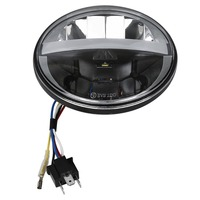 5.75 LED Head Light Lamp Fit For Harley Dyna Fat Street Bob Super Wlid Glide VRSCD VRSCDX XG500 750 FXDF FLSTS