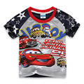 2016 New Cotton Short-Sleeved Kids Clothes Boys T Shirts Brand Car Cartoon T shirt Pattern Kids Boys Clothing