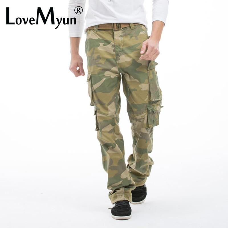 2019 Märke Herrar Army Kläder Camouflage Last Byxor Man Casual Man - Herrkläder