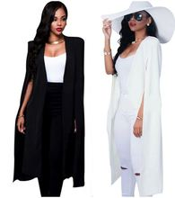 Starlist woman fashion black long blazer white long Bare arm suits coats OL office outwear