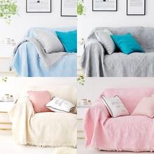 Furniture Sofa Covers for Living Room Sofa Towel for Armchair Crochet Handmade Sofa Towels For Sectional Sofa Throw Blanket