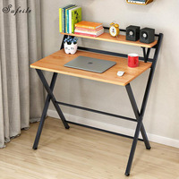 SUFEILE Folding Household Office Computer Desk Simple Desktop Learning Computer Desk Folding Wooden Desk Study 17SY24D50