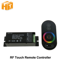 1set Lot SZ100 DC12 24V 18A RF Wireless RGB LED Dimmer Controller Touch Panel Remote For