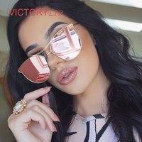2016 New Cat Eye Sunglasses Vintage Trend Women Men Metal Korea Brand Designer Fashion UV400 Lady