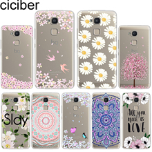 ciciber For BQ Aquaris U2 C U X5 V VS X2 X Plus Lite Pro E5 s M5 M5.5 E4.5 M4.5 Soft Silicone TPU Phone Cases Flower Deciduous