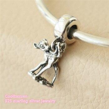 Otoño de 925 de plata esterlina Bambi cuelga cuentas del encanto Fit Original marca pulsera de abalorios para manualidades de fabricación de la joyería