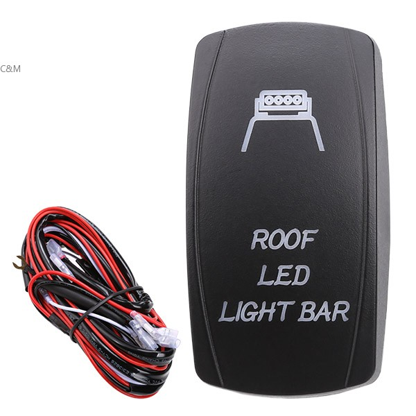 Roof Led Light Bar 5 Pins Fog Spot Light Relay Wiring Harness 30 Amp Fuse On Off Laser Rocker