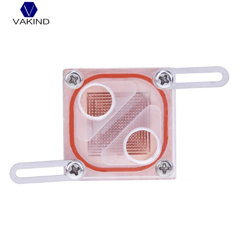 VAKIND Square Acrylic Transparent General North Bridge Northbridge Water Cooling Waterblock With G1/4 For Computer Water Cooling barrow g1 4 white black silver gold board cross water inlet water fill in port for computer water cooling use tcdzs v1