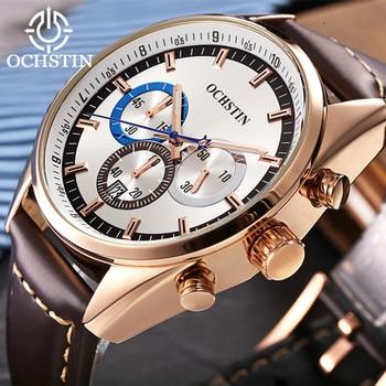 Reloj de cuarzo OCHSTIN para Hombre, Reloj resistente al agua, Reloj de lujo de oro rosa, Reloj para Hombre 2019 dorado