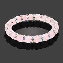 New Design Women Bracelets 7 Color Silver Crystal Mixed Pink