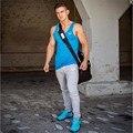 Alta Qualidade Homens outono Casual Longo Pant Sweatpants Slim Fit Mens Calças de Musculação Profissional