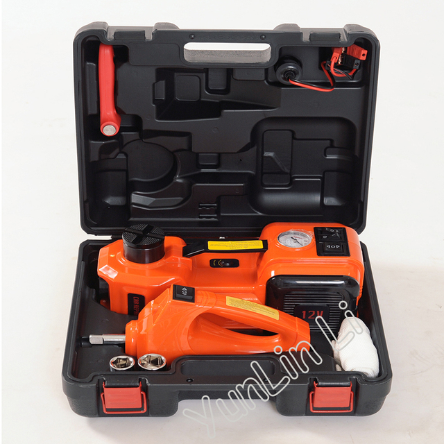 Car Lifting Jack 3-in-1 Electric Hydraulic Inflatable Pump Electric Wrench Increase the Antifreeze Raised Top HF8888