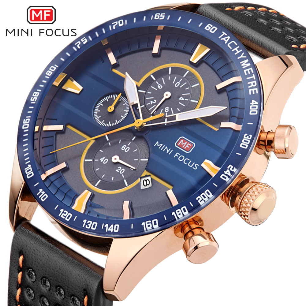 MINIFOCUS Sport Chronograph Watches Men luxury Brand Waterproof Quartz Military Men Wrist Watch Clock Male reloj