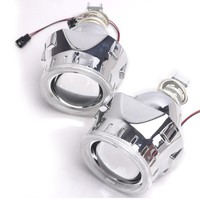 2 5 Inch Bixenon Projector Lens Mask Shroud With Double Angel Eyes For Car HID Headlight