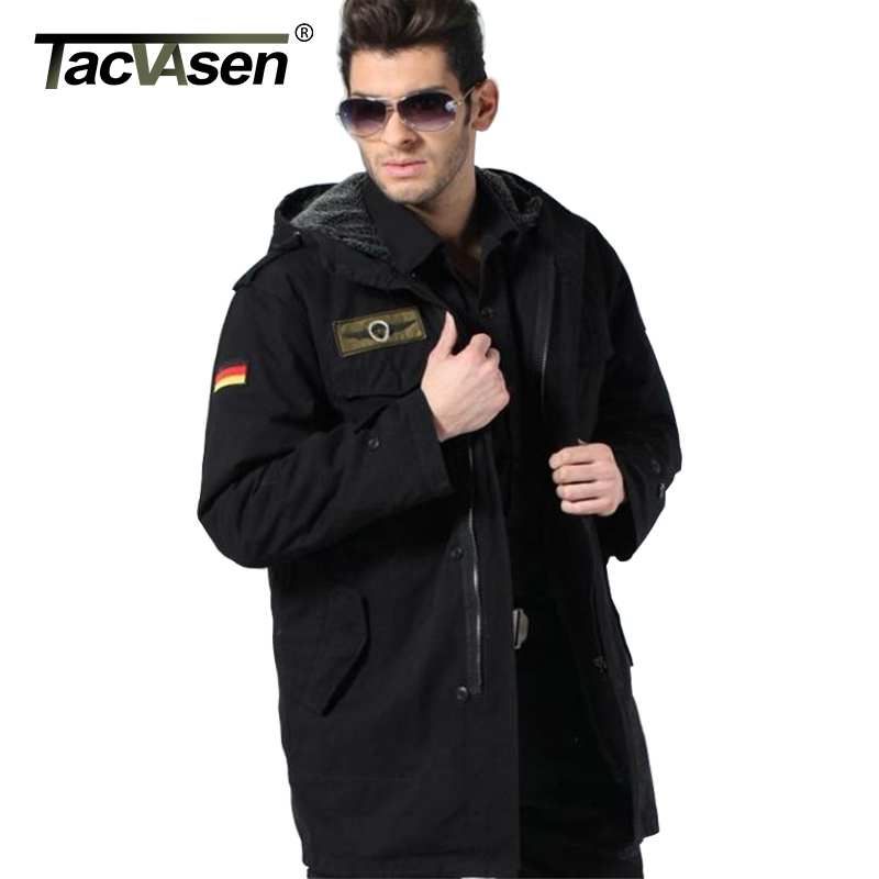 TACVASEN German Army Military Jacket Men Winter Cotton Jacket ...