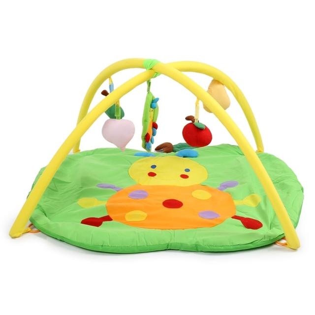 Quente do bebê esteira do jogo suave apple rastejando cobertor ginásio com quadro chocalho brinquedo para a educação esportes macios 2017