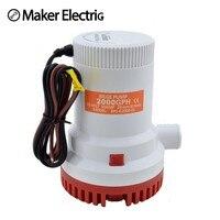 Su pompası Termoplastik Elektrikli MKBP-G2000-12/24 seasense dalgıç 12 V 2000 gph sintine pompası