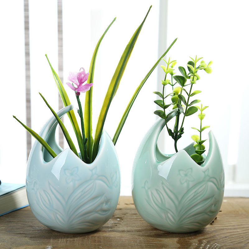 Online buy wholesale orchid pots ceramic from china orchid - Decorative flower vase ...