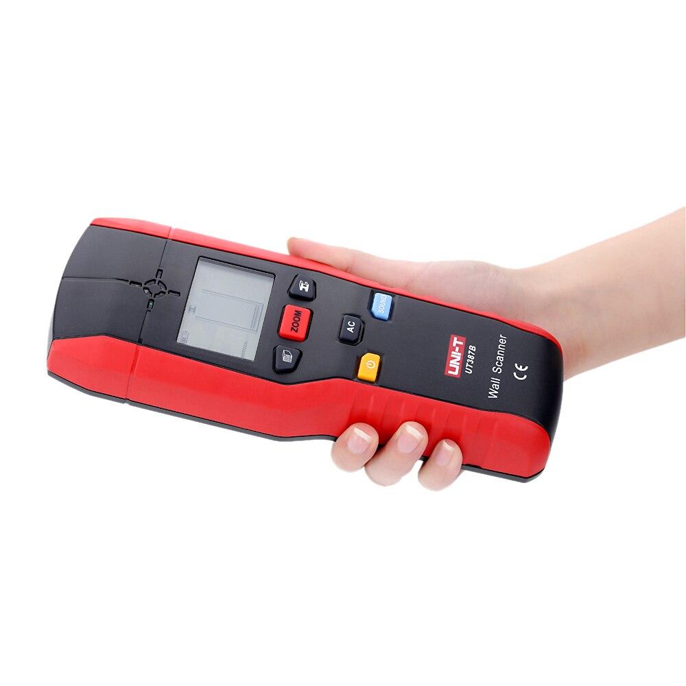 UT387B détecteur mural multifonctionnel détecteurs de métaux muraux portables détecteur de câbles à courant alternatif en bois 80mm profondeur de détection maximale