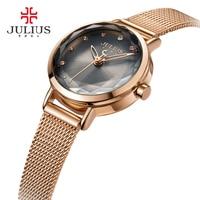 JULIUS Fashion Silver Women Watches 2017 High Quality Ultra Thin Quartz Watch Woman Elegant Dress Ladies