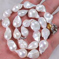 "Charming Real 12-14mm Natural South Baroque White Akoya Pearl Necklace Perfect Women Bride Weddings Party Gifts Jewelry 18""BV243"