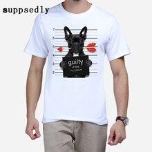 New Brand Summer Fashion French Bulldog Design T Shirt  Men  High Quality Dog Tops Hippie  T-shirts