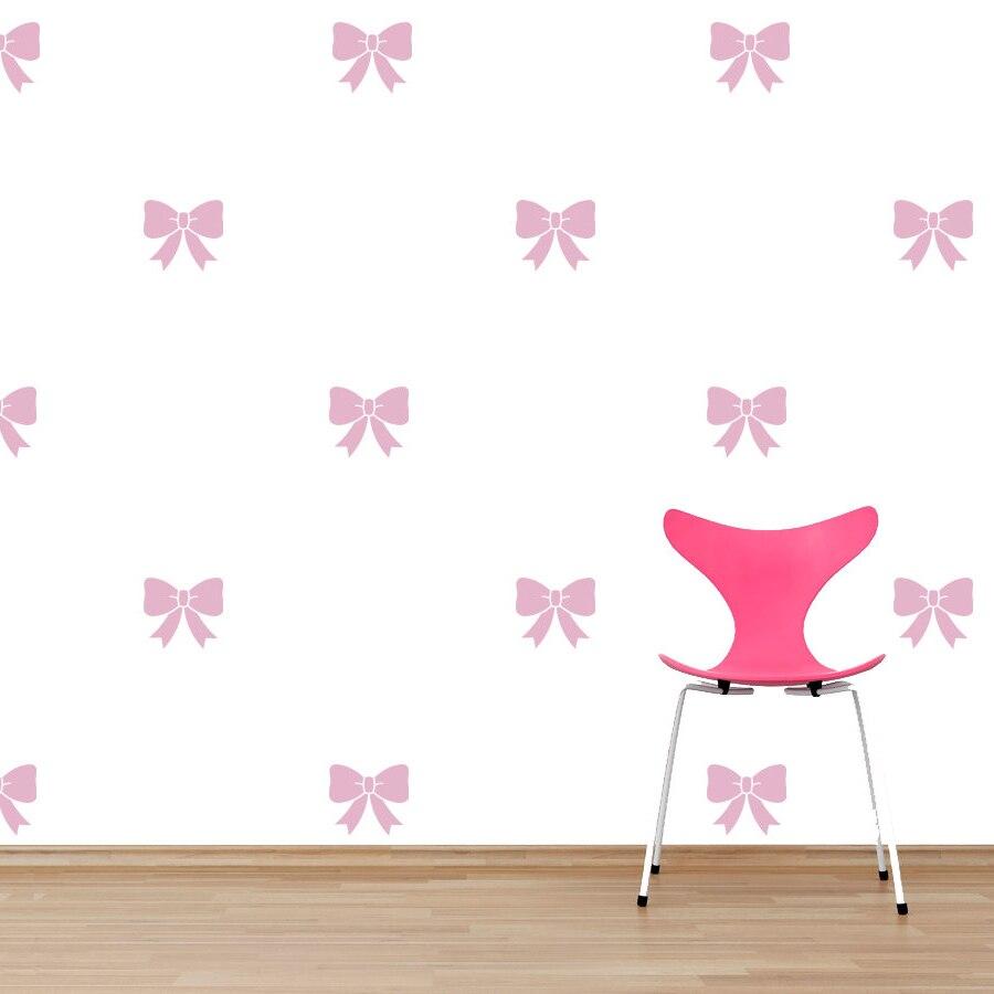 Us 7 79 26 Off Girl Room Decoration Cute Sweet Bows Vinyl Wall Sticker Kids Nursery Wallpaper Vinyl Graphic Bows Pattern Wall Decal Az135 In Wall