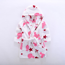 bathrobe  pajamas Childrens Flannel Children wear after sleeping and bathing
