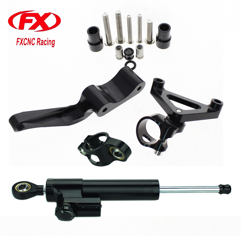 Adjustable Motorcycle Steering Stabilize Damper Bracket Mount Kit For DUCATI 696 796 795 Moto Steering Support For DUCATI