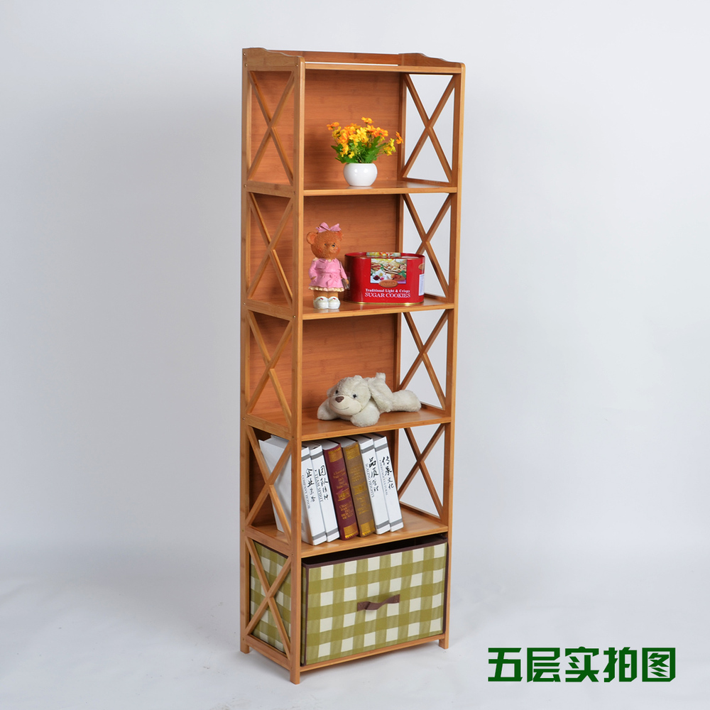 online shop bamboo combination bookcase child bookcase solid wood lockers ikea simple toy storage cupboard shelf free shipping aliexpress mobile