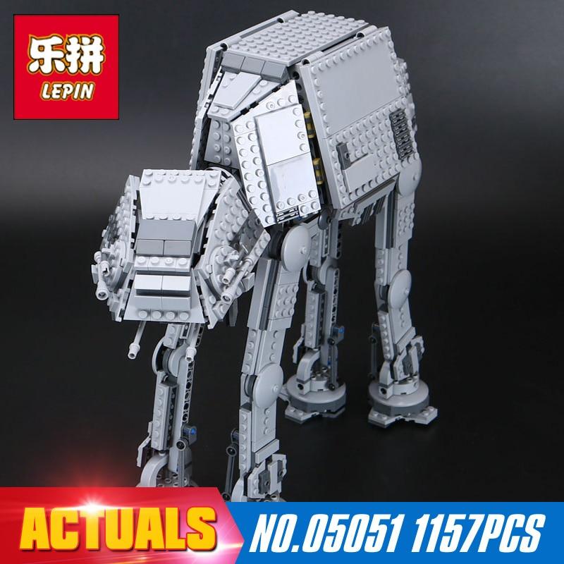 Lepin 05051 1157 Unids Serie Star Fuerza Despertar El AT-AT Transpotation Robot