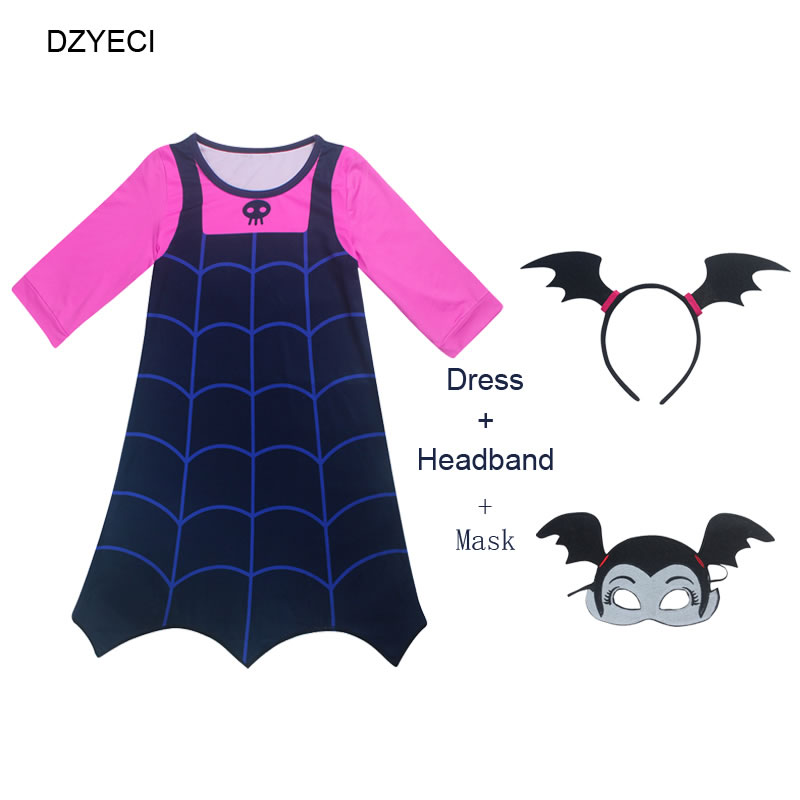 Mother & Kids Hearty Disfraz Vampirina Costume For Girl Dress Halloween Kid Boutique Frock Child Mask Headband Up Disguise Vetement Fille Cosplay 8t Relieving Heat And Thirst. Dresses