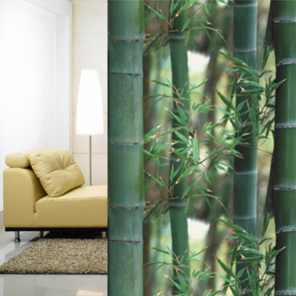 92x500cm Bamboo Privacy Window Film Decorative Static Cling Glass Film Anti-UV Window Sticker For Home Kitchen Office non adhesive static frosted window film glass film for home and office