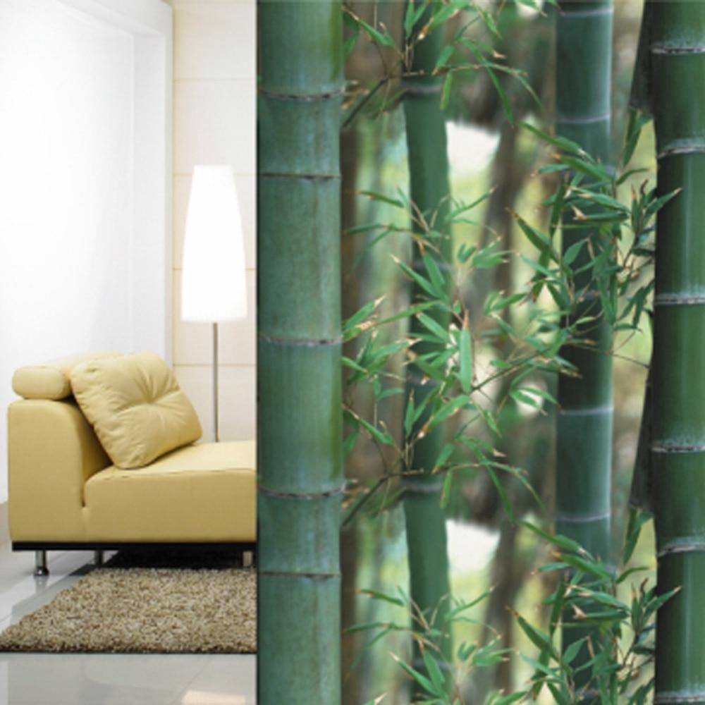 92x500cm Bamboo Privacy Window Film Decorative Static Cling Glass Film Anti-UV Window Sticker For Home Kitchen Office