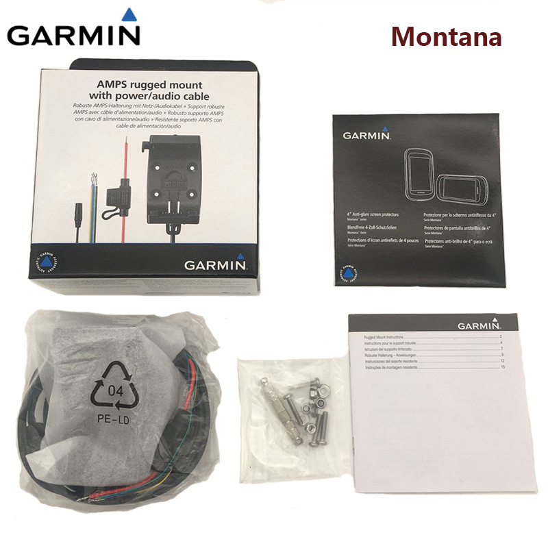 Original Garmin Montana 600 650 650t motorcycle heavy machine bracket with power cord audio interface