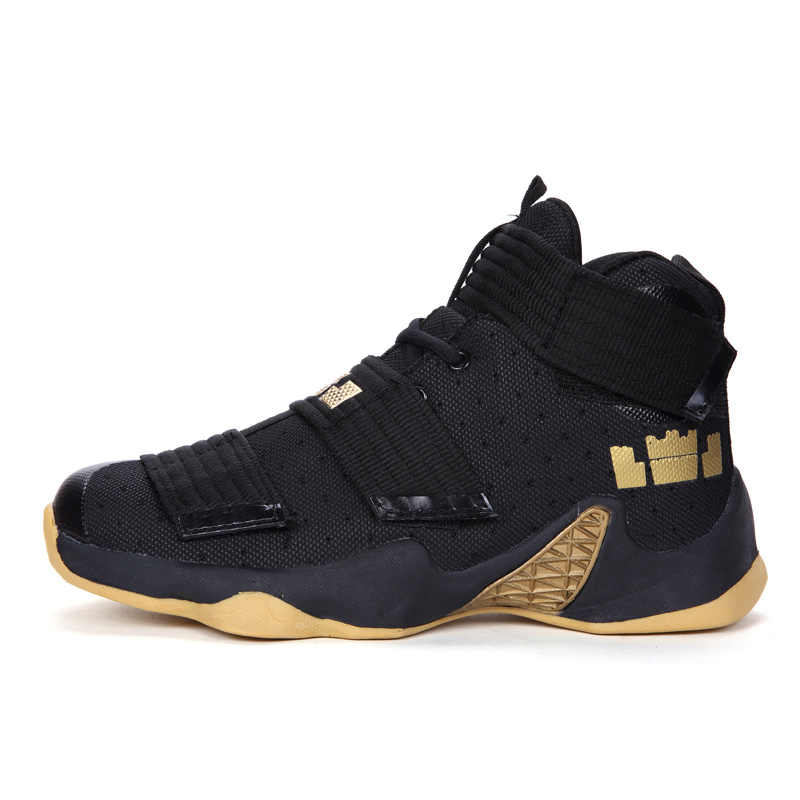 ad1eedaca561 Men High Ankle Air Basketball Retro 9 Shoes Autumn Summer Trainer Breathable  Lace Up Women LBJ