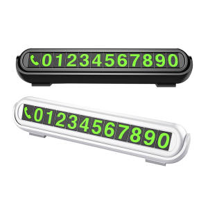 Car Styling Phone Number Card Hidden Number Plate Temporary Car Parking Card with