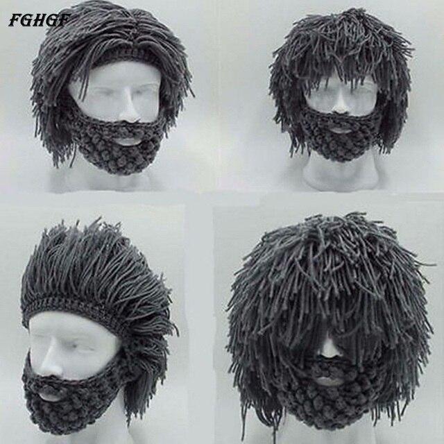 FGHGF pelucas barba sombrero creativo tejido a mano gorro de ...