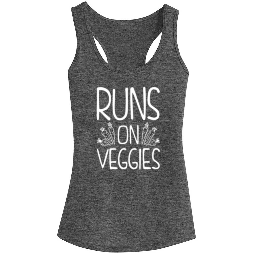 be0261f9fa3b83 Womens Run On Veggies Vegan Fitness Workout Racerback Tank Tops-in Tank Tops  from Women s Clothing on Aliexpress.com