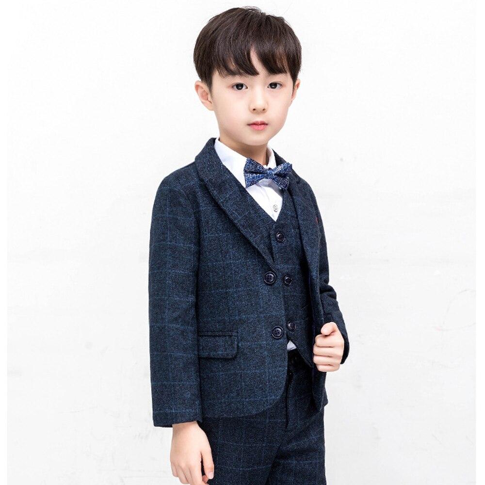 30db5172c 2019 New Brand Kids Plaid Wedding Blazer Suit Boys 4 pcs/set Formal Tuxedos  School. sku: 32975310085