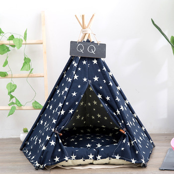 jormel-pet-tent-dog-bed-cat-toy-house-portable-washable-pet-teepee-stripe-pattern-fashion-2019-not-included-mat