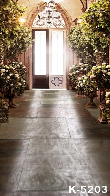 luxurious castle romantic and dream wedding photo background 5x7ft bright door photographie studio backdrop green trees