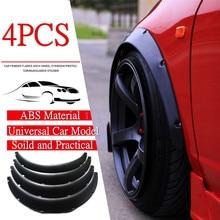 4PCS 70mm Mud Flaps Universal Car Fender Flares Wheel Arch Trim Strip Eyebrow Protector Splash Guards